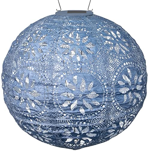 Allsop 31836 Boho Globe Handmade LED Outdoor Solar Lantern, 12X12