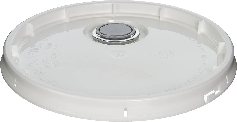 Encore 153687 Plastics Tear-Strip Paint Pail Lid with Senior Rieke Spout, for Use with 5 Gal Tub