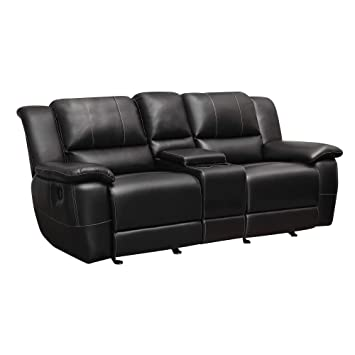 Pleasing Lee Double Reclining Gliding Loveseat With Console Black Pdpeps Interior Chair Design Pdpepsorg