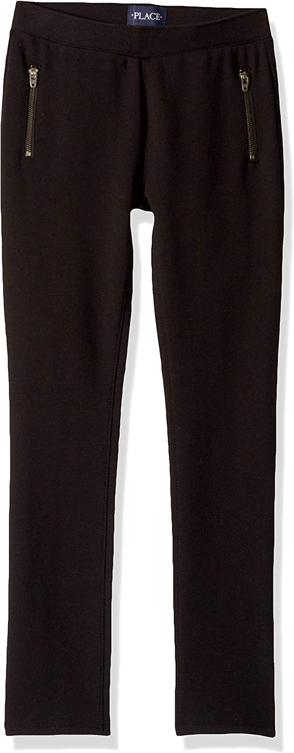 The Childrens Place Girls Stretch Zipper Ponte Pant