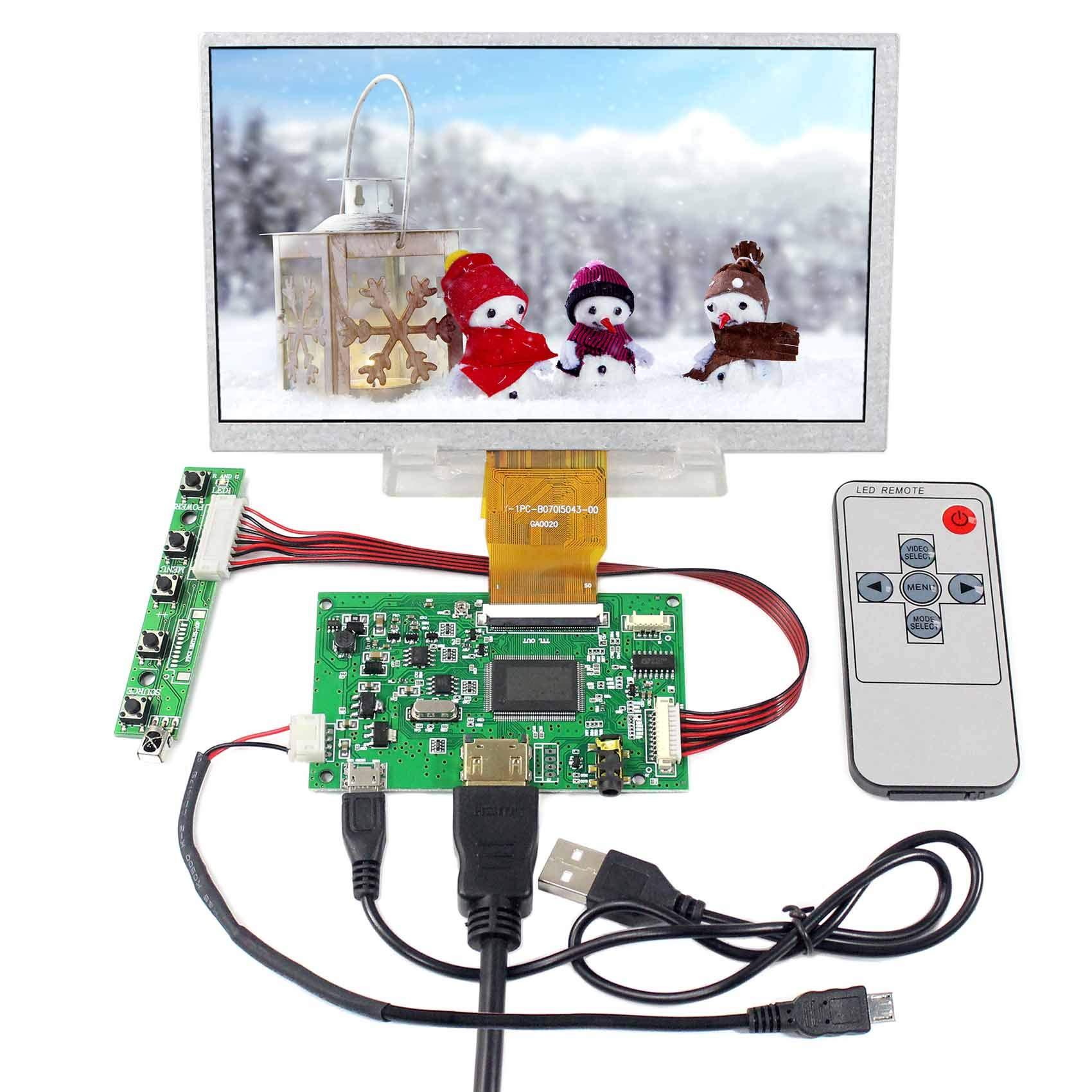 Controladora Lcd Hdmi Vga 7 1024x600 Raspberry Pi
