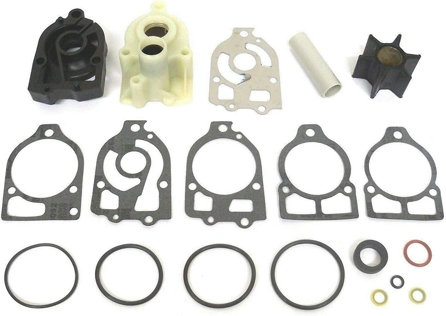 GLM Water Pump Impeller Kit for Mercury 1978-1985 V6 150, 175, 200, 225 Hp Replaces 46-78400A2, 18-3316 Read Product Description for Exact Applications