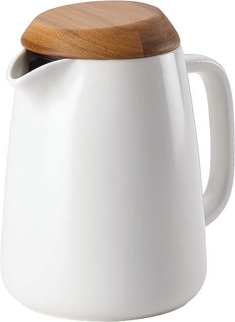 Amazon Com Bonjour Wayfarer Ceramic Coffee Pot 34 Ounce Matte White Coffee Serving Sets