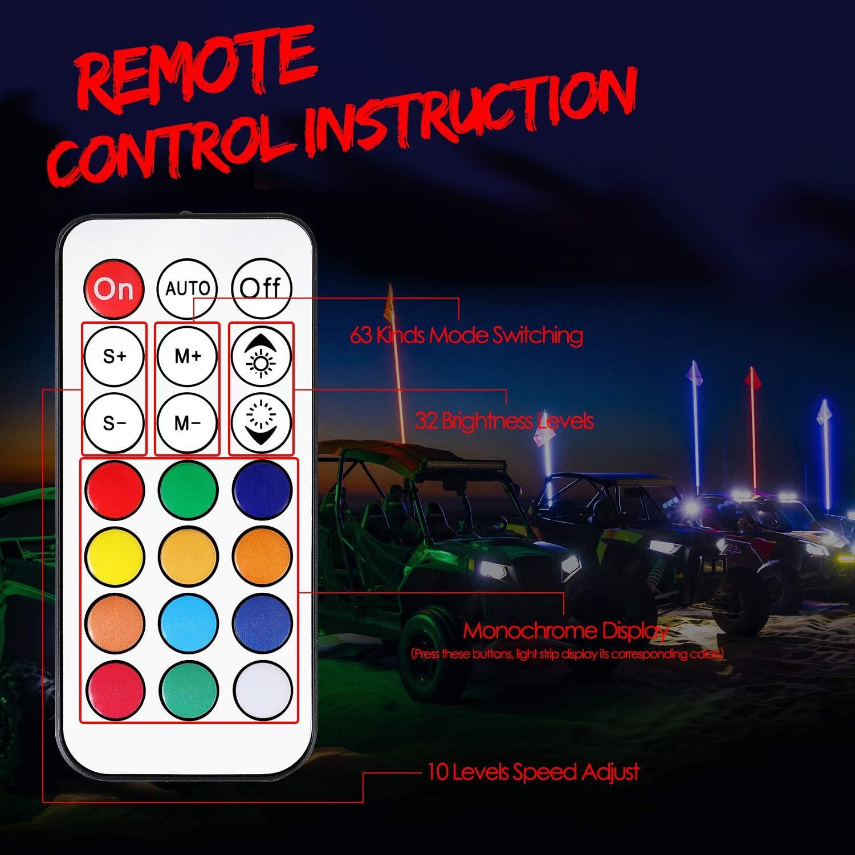 OSALADI 2 Unids Control Remoto LED Luz Flotante Luz Submarina Luz Subacu/ática Uso de la Decoraci/ón para Piscina con 2 UNIDS 21 Teclas Control Remoto