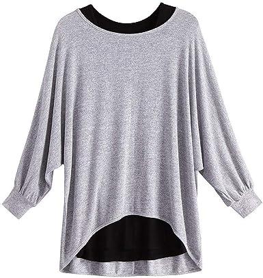 Camisa De Manga para Mujer Larga Camisa Plisada De ...