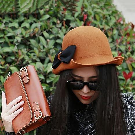 0fe3330c81ed5 Fashion capital Sombrero Femenino Invierno Retro Sombreros Europeos y  Americanos Marea Coreana otoño e Invierno Dulces