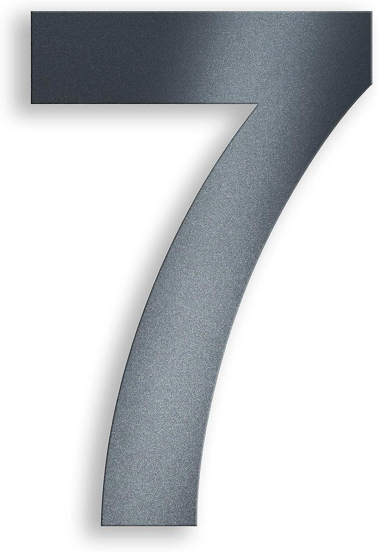 Metzler-Trade/® num/éro de maison anthracite en acier inoxydableRAL 7016Chiffres et lettresHauteur/ 14 cmDesign moderne