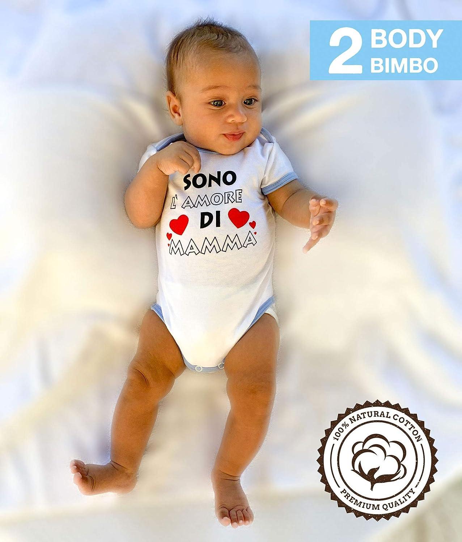 BIMBA CONFEZIONE 2 BODY COL.BIANCO CON SCRITTE  TG DA 0 A 24 MESI