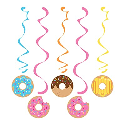 Creative Converting 324238 Donut Party Dizzy Danglers, Multisizes, Multicolor: Kitchen & Dining