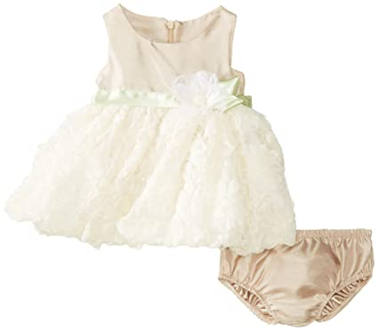 08ee9141f3d Amazon.com  Bonnie Baby-Girls Newborn Shantung To Bonaz Dress  Clothing