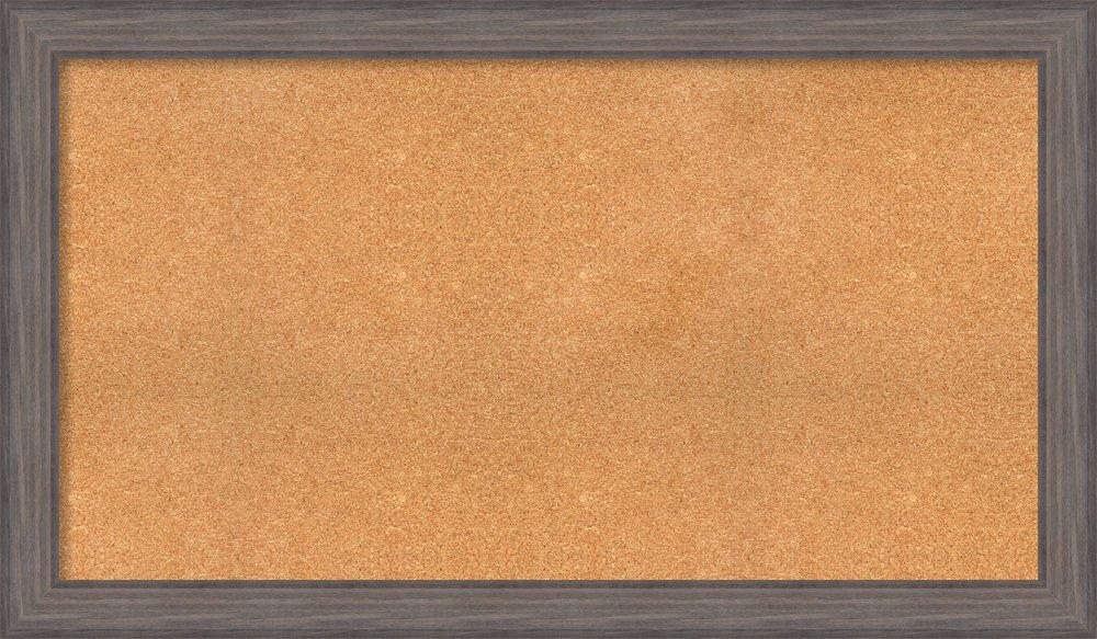 Amanti Art Choose Your Custom Size Natural Cork Country Barnwood Framed Bulletin Boards, 58 x 34
