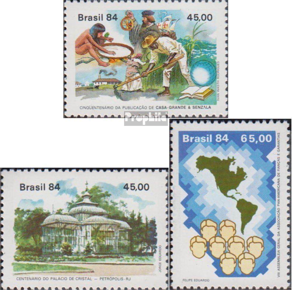 Prophila Collection Brasil Michel.-No..: 2017,2018,2035 (Completa.edición.) 1984 Freyre, Kristallpalast, Bürgschafte (Sellos para los coleccionistas): Amazon.es: Juguetes y juegos