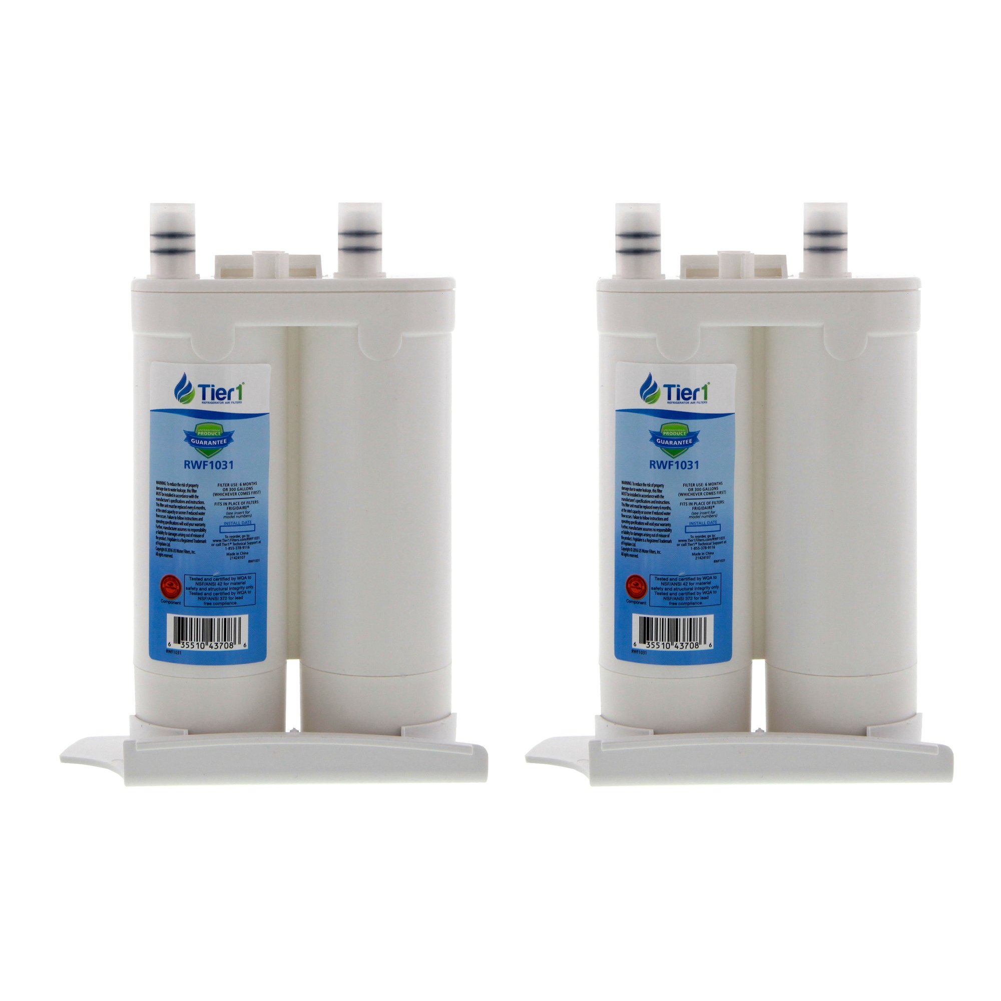 2 Pack Tier1 WF2CB Electrolux NGFC 2000, 1004-42-FA, 469911, 469916, FC 100 Replacement Refrigerator Water Filter