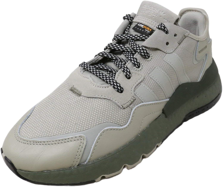 adidas Originals Mens Nite Jogger Knit Low Top Running Shoes Beige 12 Medium (D)