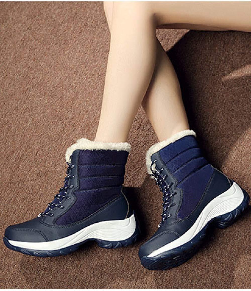 FuweiEncore Zapatos de de de Nieve Casuales de Cuero (Color : Azul, tamaño : 40EU) 8cf1f2