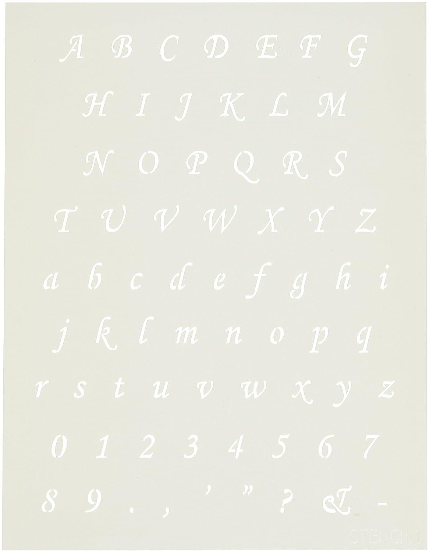 Stencil1 8,5    x 11 cm, Motivo Lettere dell'alfabeto, Carattere Corsiva | una vasta gamma di prodotti  | Nuovi Prodotti  | Acquisto  | A Basso Prezzo  | Benvenuto  | A Buon Mercato  | Diversi stili e stili  | Caratteristico  | Durevole  | modello  f4818a