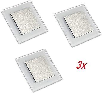 Lámpara LED empotrable para escaleras, iluminación de escaleras, lámpara de escalera, foco de pared, foco de escaleras, foco de pared 230 V 2 W IP20,: Amazon.es: Iluminación