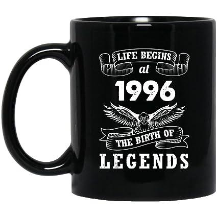 22nd Birthday Mug Gift For Dad Mom Life Begins At 1996 The Birth