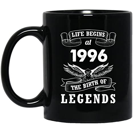 22nd Birthday Mug Gift For Dad Mom Life Begins At 1996 The Birth