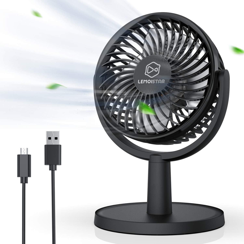 Mini USB Desk Fan Small Quiet Personal Cooler USB Powered Portable Table Fan ZMK