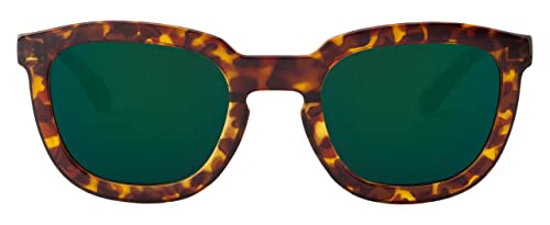 MR.BOHO Cheetah Tortoise Lemarais with Dark Green Lenses, Occhiali da Sole Unisex-Adulto, Taglia Uni...