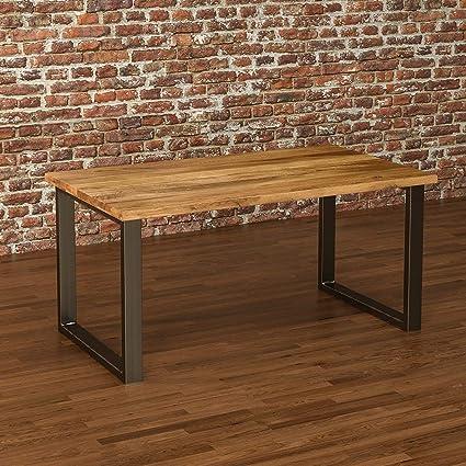 Tischgestell 70x72 cm HOLZBRINK Tischkufen aus Vierkantprofilen 80x20 mm Rohstahl mit Klarlack HLT-01-C-EE-0000 1 St/ück