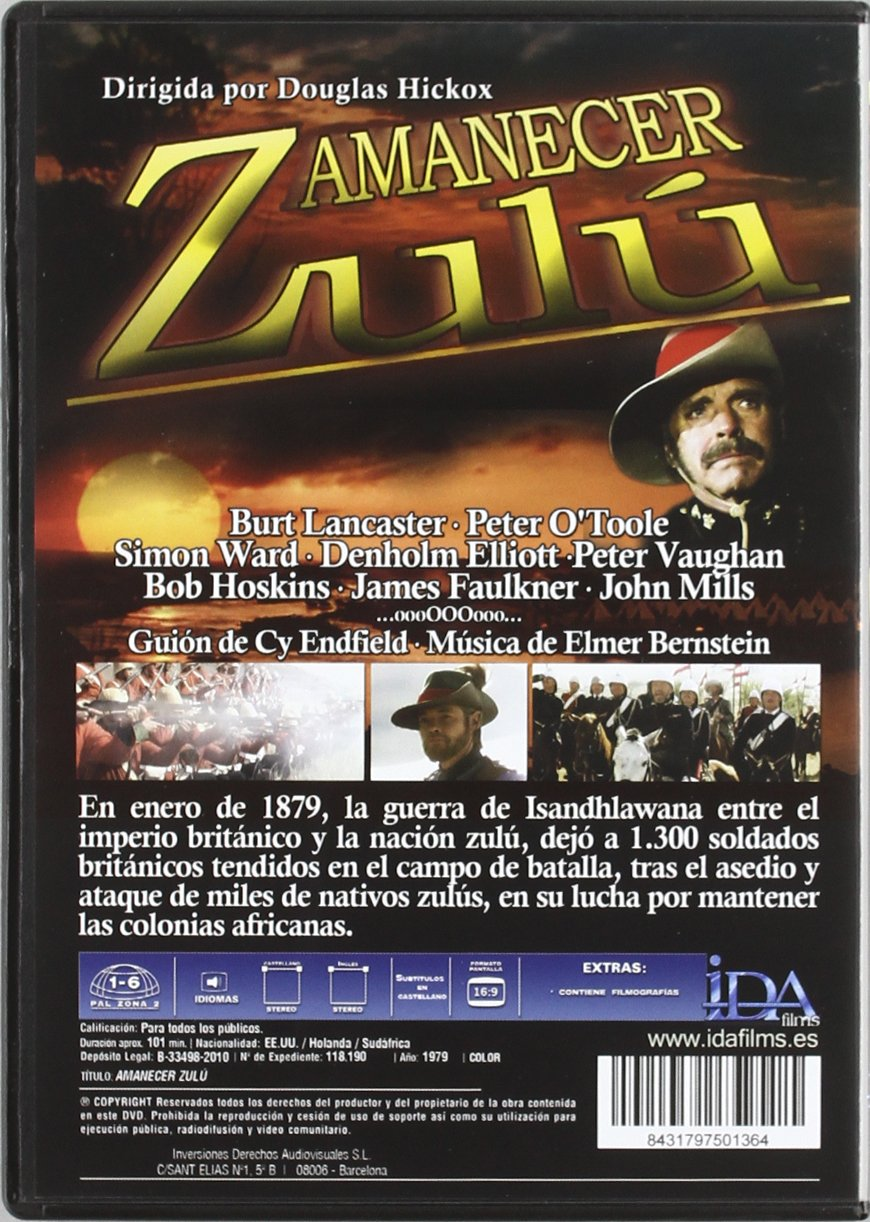 Amazon.com: Amanecer Zulu (Dvd) [1979] (Import Movie) (European Format - Zone 2): Movies & TV