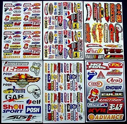 6 Blatt Aufkleber Vinyl Azk Motocross Bmx Bike Pre Cut Rockstar Energy Scooter Auto