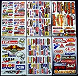 6 Sheets ' Motorcross stickers ' AZK boys Rockstar bmx bike STICKER BOMB PACK Scooter Moped army Decal Stickers