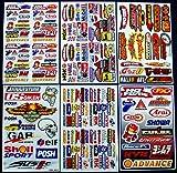 6 Sheets ' Motorcross stickers ' AZK boys Rockstar bmx bike STICKER BOMB PACK Scooter Moped army Decal Stickers