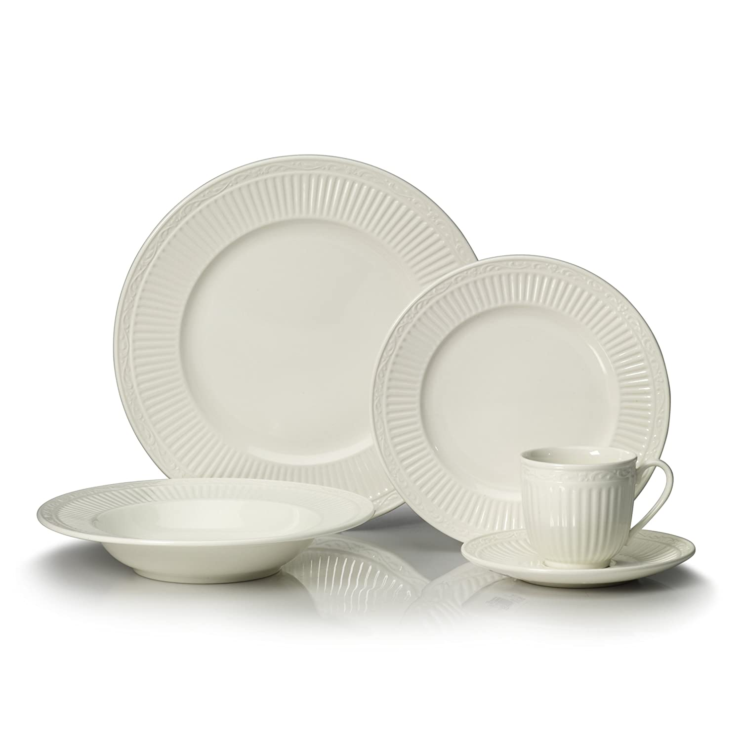 Amazon.com Mikasa Italian Countryside 40-Piece Dinnerware Set Service for 8 Kitchen \u0026 Dining  sc 1 st  Amazon.com & Amazon.com: Mikasa Italian Countryside 40-Piece Dinnerware Set ...