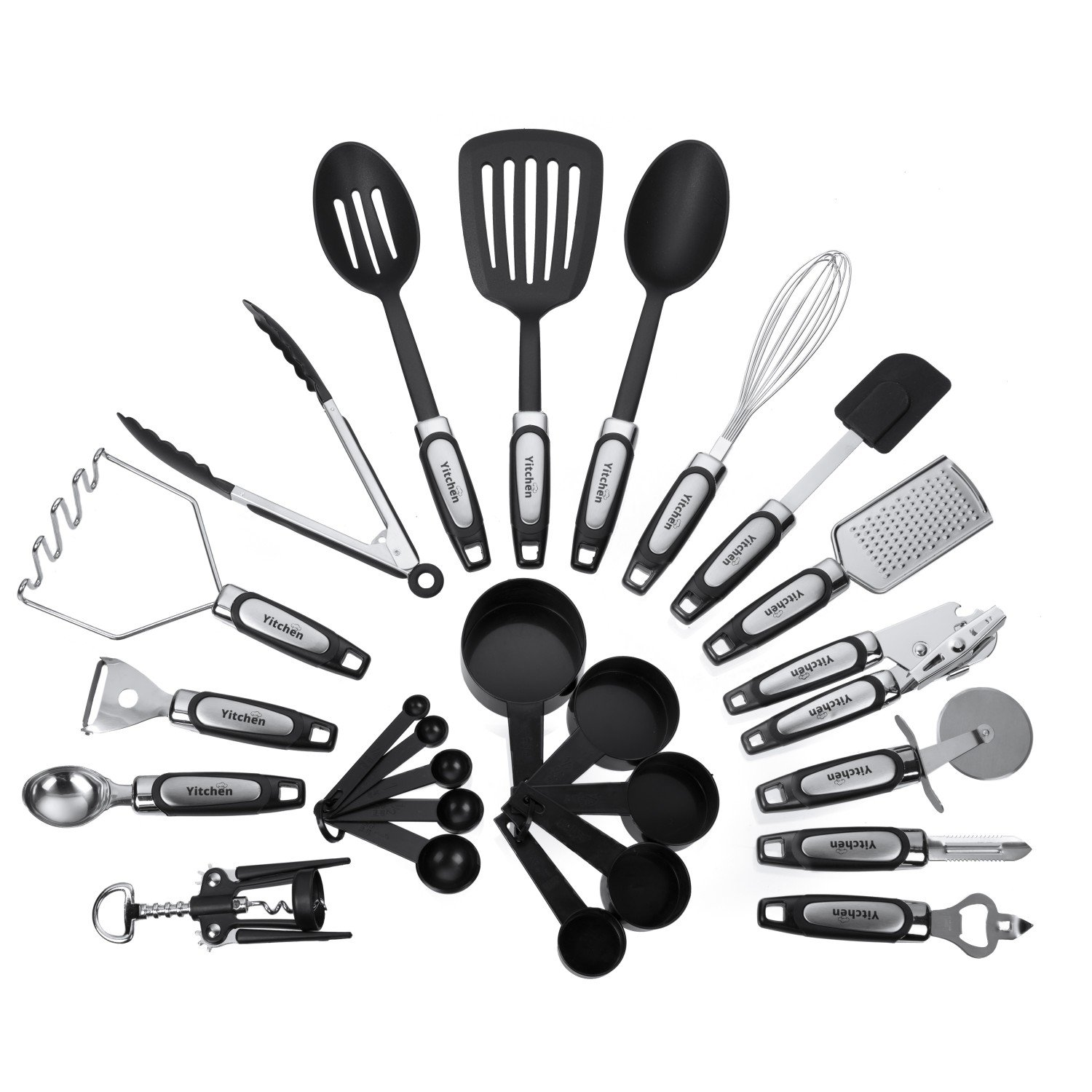 Amazon.com | 25-Piece Kitchen Tool & Utensil Set, Cooking Gadgets ...