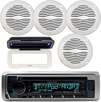 Pyle PLMRCW1 Waterproof Radio CD Player Cover Shield W// White Base 2 Pack of