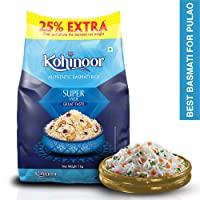 Kohinoor Super Value Basmati Rice, 1 Kg + 25% Extra