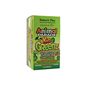 Nature's Plus SOL Childrens Animal Parade KidGreenz (3-Pack of 90)