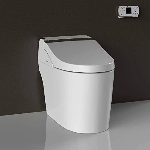 WOODBRIDGE B-0960S B0960S Smart Bidet seat Toilet with Integrated Dual Flush with Remote Control
