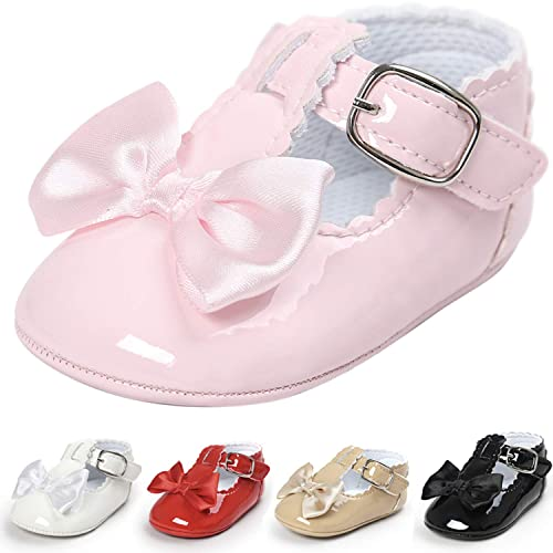 1d24e145b5678 Amazon.com | Garrein Baby Girls Soft Sole Mary Jane Princess Shoes ...