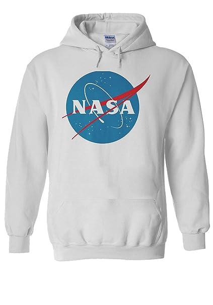 Sudadera unisex con capucha y logo de la NASA, la Administración Nacional de la Aeronáutica y del Espacio.: Amazon.es: Ropa y accesorios