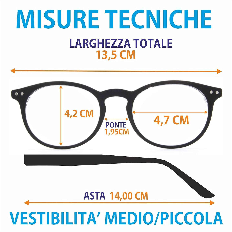 Occhiali Da Vista Per Lettura Marca Isurf Modello Mughini Per Presbiopia Semplice (diottria +1,00, Verde)