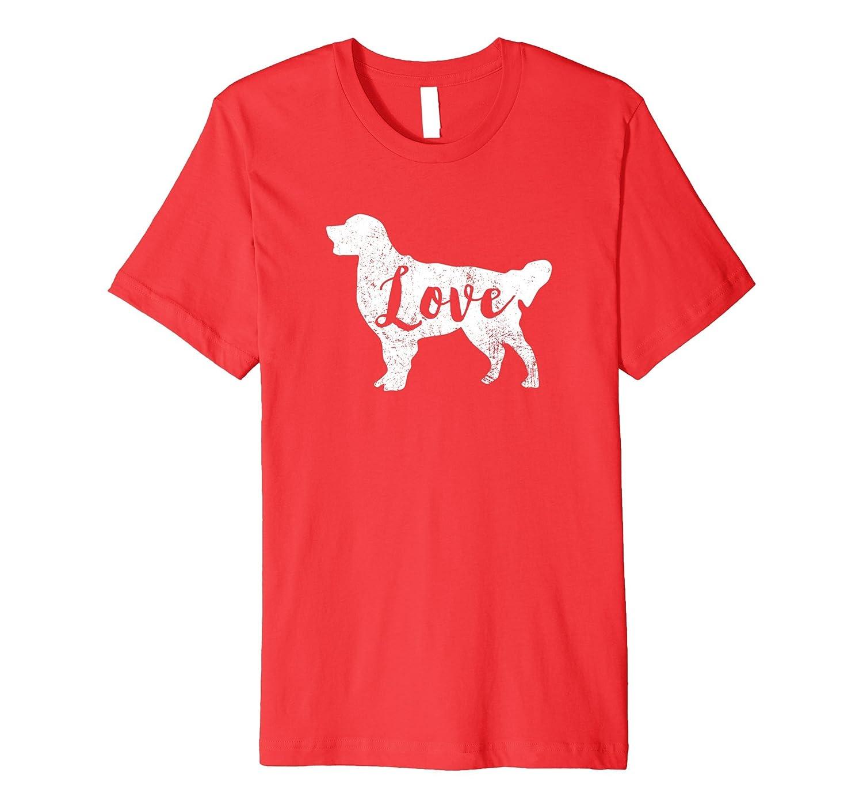 Love Golden Retriever T-Shirt Slim Fit-ah my shirt one gift