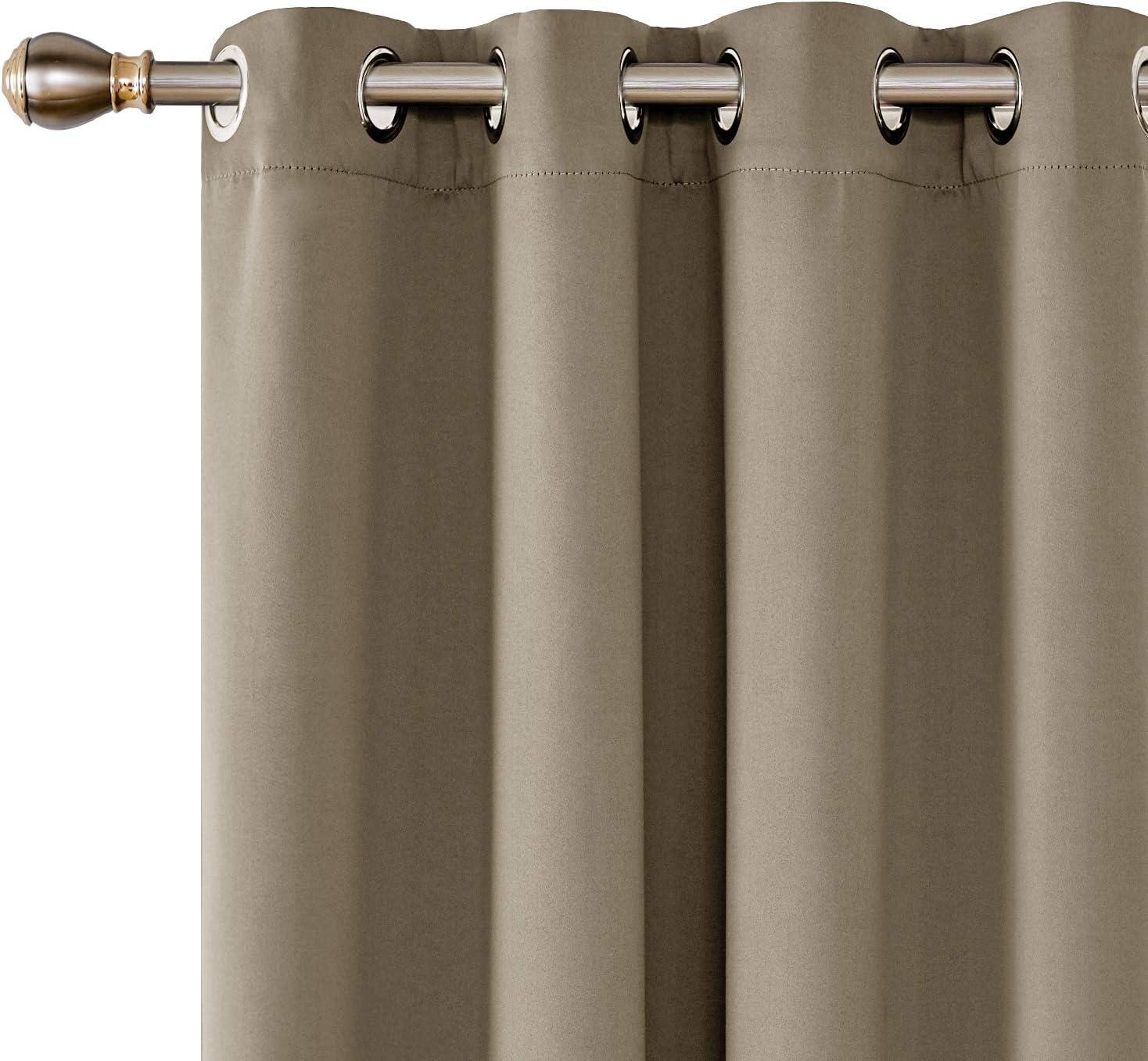 Essentials 2 Schals Verdunkelung Gardinen /Ösen Thermogardine Verdunklungsvorhang 140x260 cm Schwarz UMI