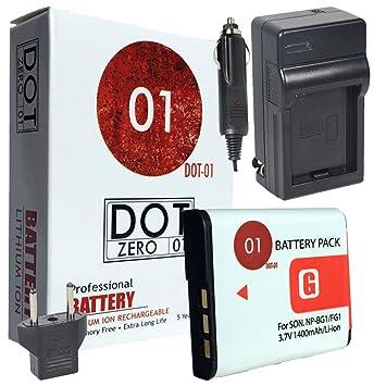DOT-01 - Batería y Cargador para cámara Digital Sony DSC-H7 y Sony ...