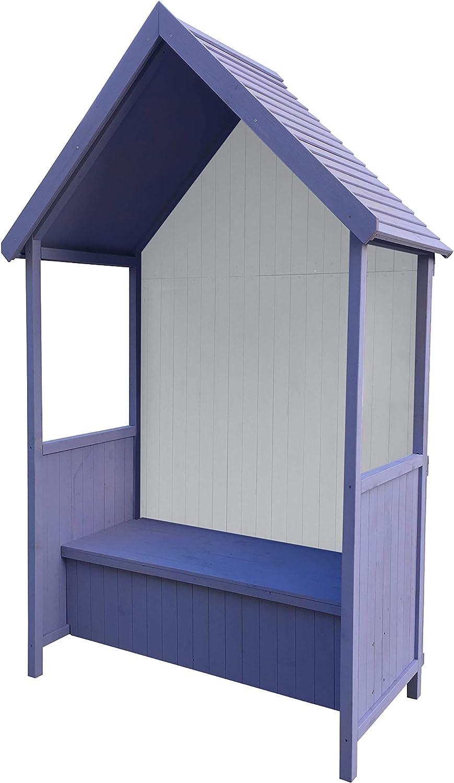 Gardiun KNH1113 - Marquesina Alice Purple 75x137x223 cm de Madera ...