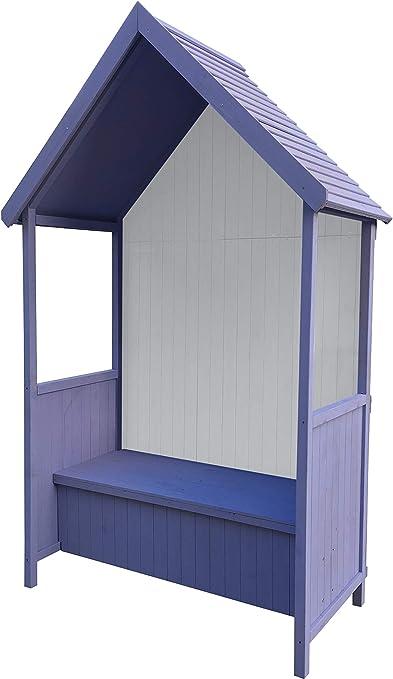 Gardiun KNH1113 - Marquesina Alice Purple 75x137x223 cm de Madera con Banco: Amazon.es: Jardín