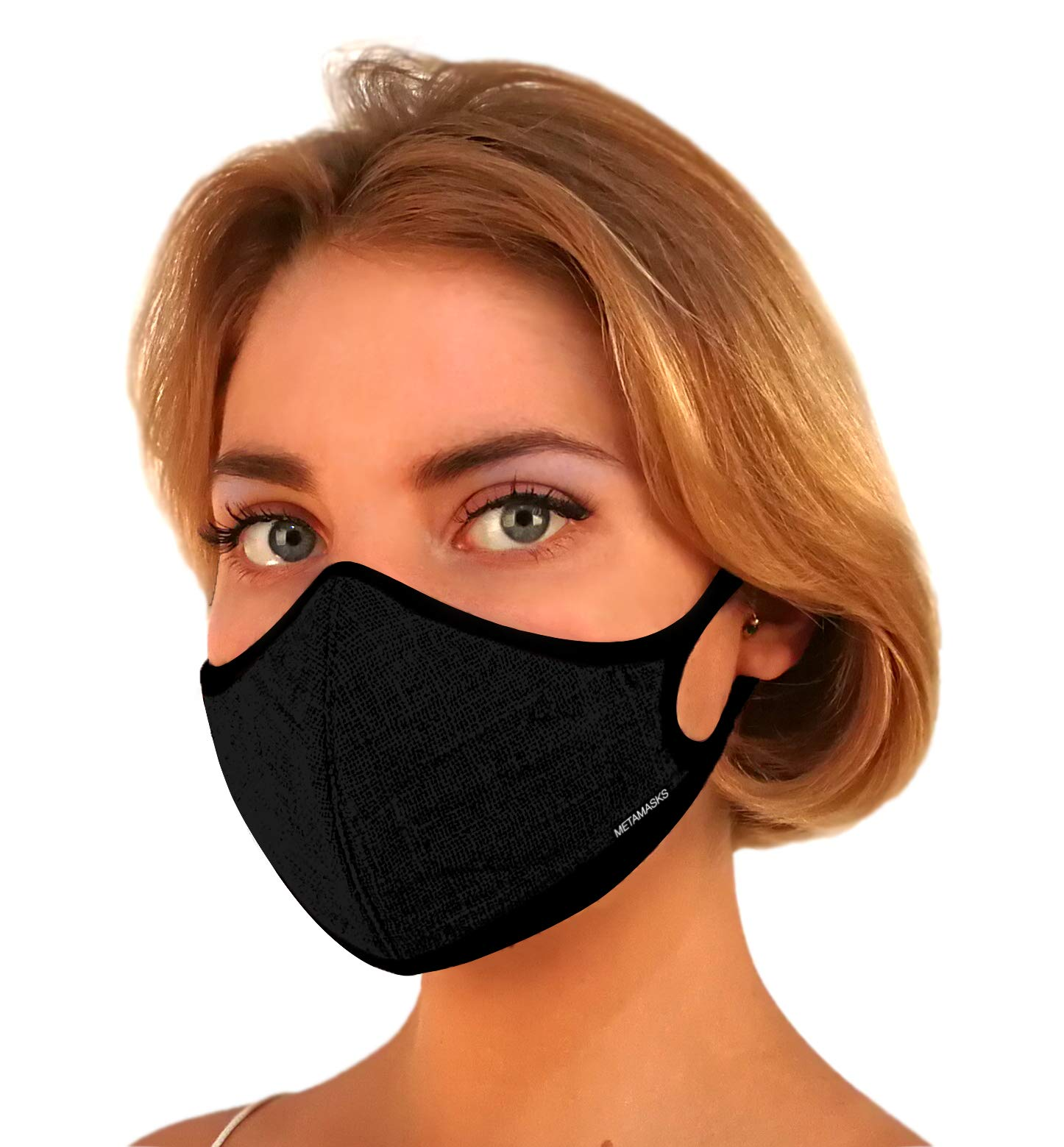 Air Pollution Face Mask For Dust N99 N95 Pollution Respirator Fashion Breathing Masks Filter Carbon Filtration Protection Exhaust Pollen Allergy Washable PM2.5 (Large, Linen - Black) by Metamasks