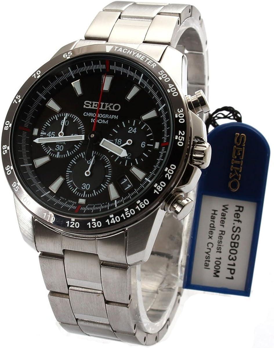 Seiko De los hombres Watch Cronógrafo Japan Reloj SSB031P1