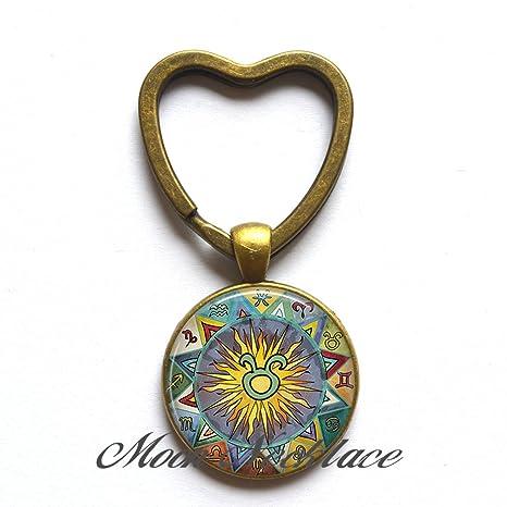 Amazon.com: Encanto del corazón de llavero, Taurus bohemio ...