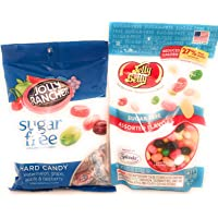 Sugar Free Candy 1 Pack of Jelly Belly 233g, 1 Pack of Jolly Rancher 102g