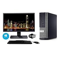 Dell Optiplex 7010 SFF Computer Desktop PC (Intel Core i5-3470, 8GB Ram, 500GB, HDD, DVD-RW, WiFi Keyboard Mouse) 17in LCD Monitor Brands Vary, Windows 10 (Renewed)