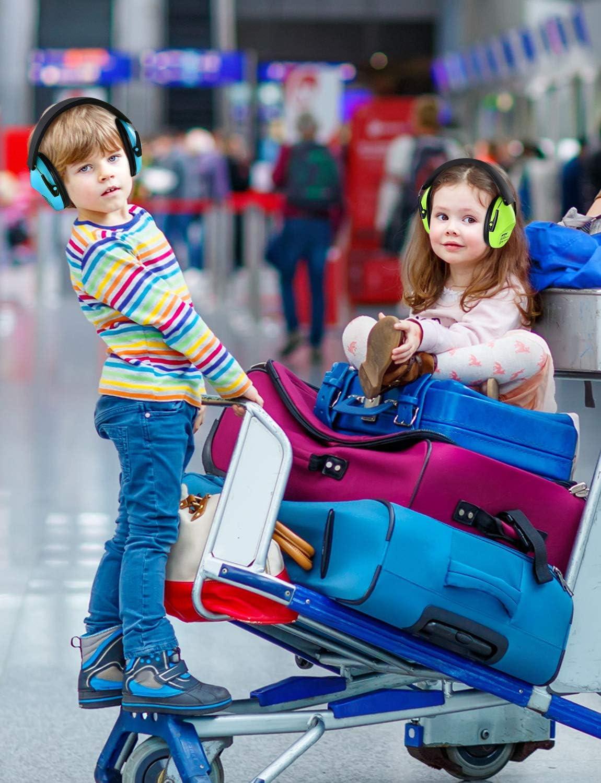 Geh/örschutz Kids MpowKinder Geh/örschutz f/ür Sicherheit 2-Packungen Autorennen Schie/ßstand Reisen usw. zus/ätzliche Tragetaschn NRR 25dB-Ger/äuschreduzierung Geh/örschutz f/ür Kind beim Jagdsaison